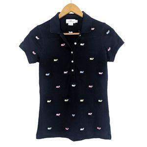 Vineyard Vines Navy Blue Short Sleeve Polo Top XS